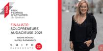 Nadine Ménard de SUITE22 Événements, finaliste au Prix Femmes d'affaires du Québec