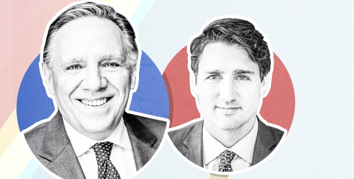 Legault vs Trudeau