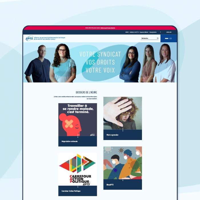 L'APTS confie à Alias Clic la conception de son site Internet