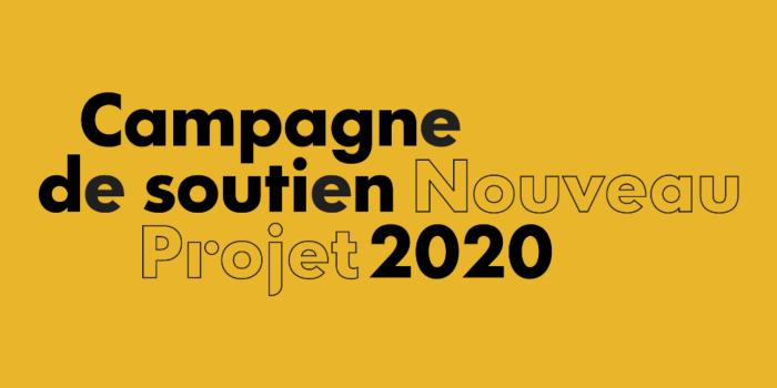 Nouveau Projet lance sa campagne de soutien annuelle