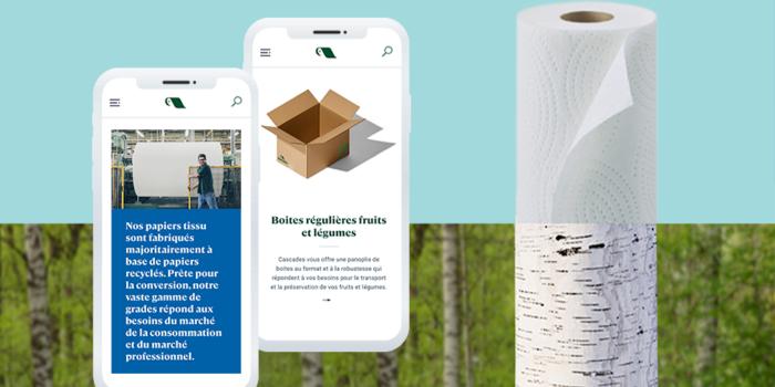 Un nouveau site web corporatif pour la marque Cascades