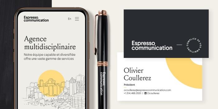 Nouveau site web et nouvelle image pour Espresso communication