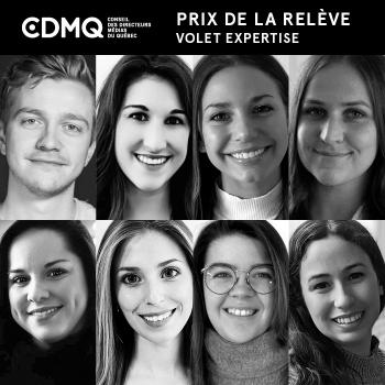 Dévoilement des candidats du Prix de la relève volet expertise du CDMQ