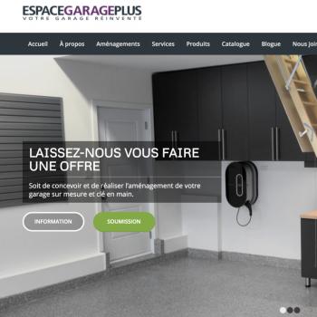 Le site d'Espace Garage Plus fait peau neuve grâce à Amauta Marketing