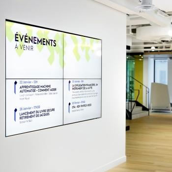 iGotcha Media installe un système d'affichage dans la Station FinTech Montréal