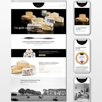La Fromagerie de l'Île-aux-Grues dévoile son nouveau site web