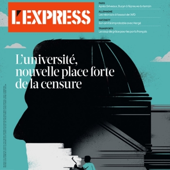 Sébastien Thibault illustre la couverture du magazine L'Express