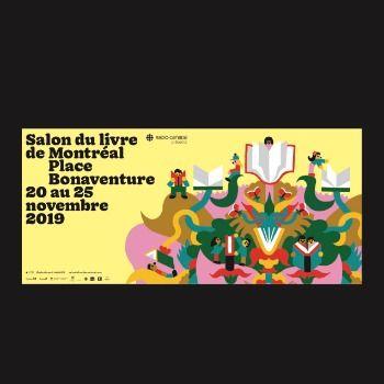 L'identité visuelle du Salon du livre de Montréal2019 dévoilée