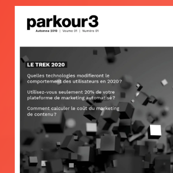 Parkour3 lance la première édition de son magazine numérique annuel