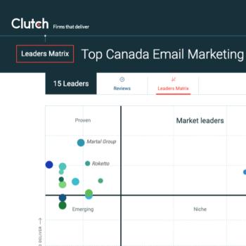 Stratégies classée «Market Leader» par le site américain Clutch