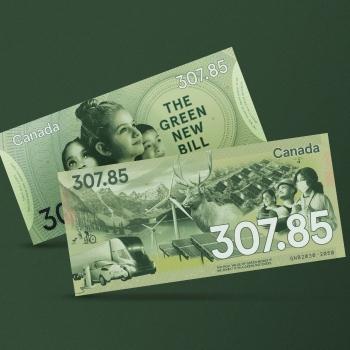 Le Vrai billet vert: le premier billet de 307,85$ au monde