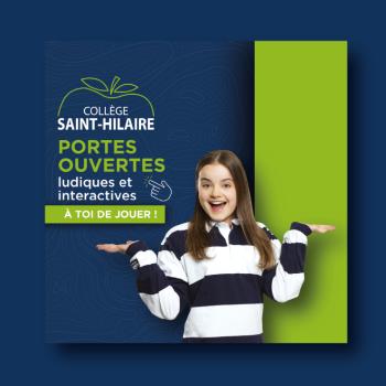 SQU4D signe la campagne publicitaire du Collège Saint-Hilaire