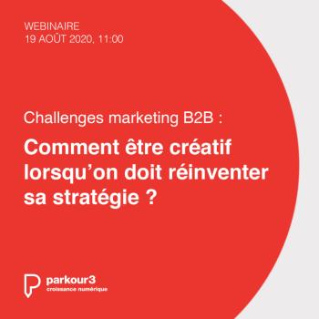 Un webinaire sur les nouveaux défis marketing B2B
