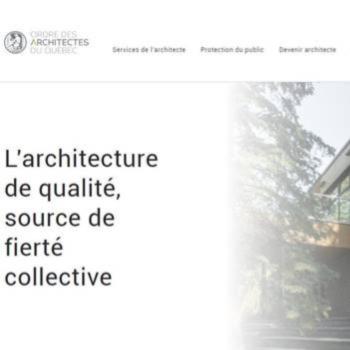 Vortex Solution dévoile le nouveau site web de l'Ordre des architectes du Québec