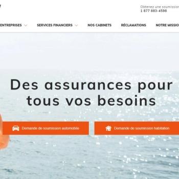 Vortex Solution réalise le nouveau site web d'Assurancia