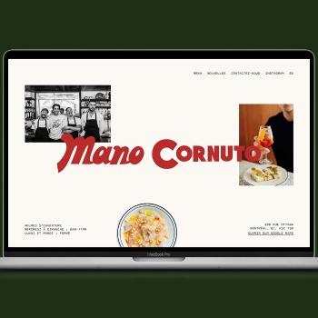 L'agence Playground réalise le nouveau site web de Mano Cornuto